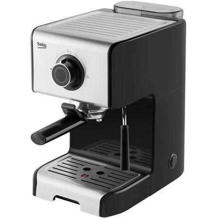 Espressor manual Beko CEP5152B, 15 bar, dispozitiv spumare lapte, cesti preincalzite, Inox