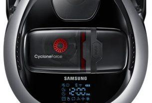 Robot de aspirare Samsung VR20M707HWS/GE, 0.3 l, Li-Ion, FullView Sensor 2.0, Telecomanda, Wi-Fi control
