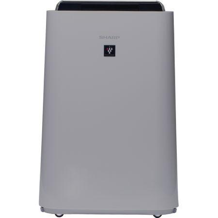 Purificator de aer cu umidificator Sharp UA-HD50E-L, 4 modele de filtrare, 4 senzori de praf, Plasmacluster Ion Technology, 38m², alb