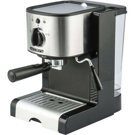 Espressor manual Star-Light EMD-1515, 15 Bar, Dispozitiv spumare, 1.5 l, Negru/Inox