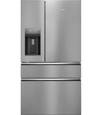 Combina frigorifica AEG RMB96716CX, 541 l, Dozator de apa, NoFrost, Touch control, Clasa A+, H 178 cm, Inox