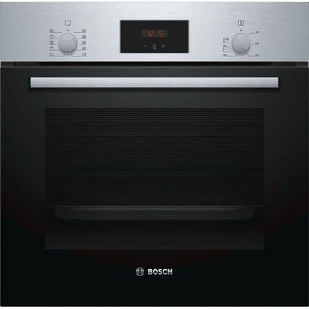 Cuptor incorporabil Bosch HBF154ES0, Electric, 66L, Autocuratare catalitica, Grill, Clasa A, inox