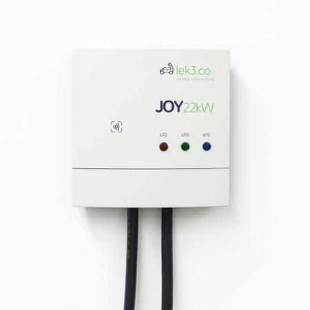 Statie de incarcare masini electrice, Lek3co Joy-L22C, 22 kW, cablu Type 2