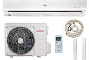 Pachet aer conditionat Fujitsu - 12000 Btu - ASYA12KLWA + kit complet de montaj