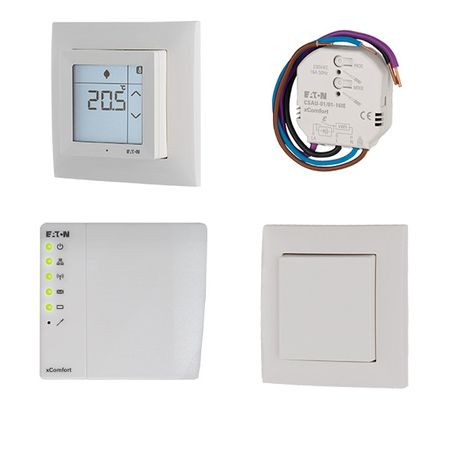 Kit Smart Home pentru casa 4 camere, EATON xComfort, control lumini, incalzire, AC