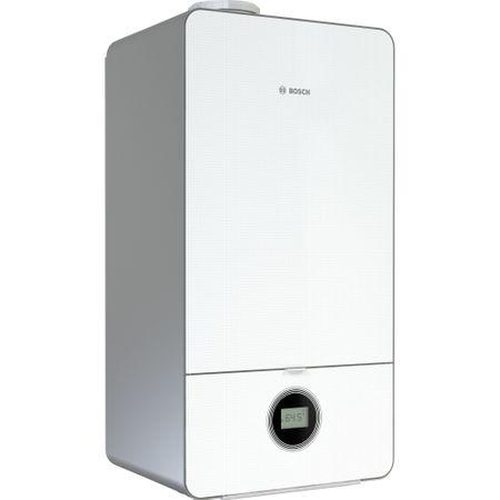 Pachet: Centrala in condensare Bosch Condens 7000i W, Gaz, 30 kW, Clasa A, GC7000iW 30/35 C 23, fara kit inclus + Kit evacuare gaze arse orizontal Bosch