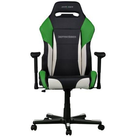 Scaun Gaming DXRacer DRIFTING D61-NWE, Black/White/Green