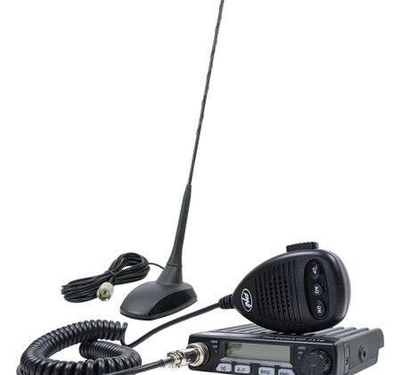 Kit statie radio CB PNI Escort HP 7110 ASQ, RF Gain, 4W, 12V si antena PNI Extra 48 cu magnet inclus