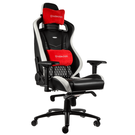 Scaun gaming Noblechairs Epic Real Leather black/red/white/ SGL