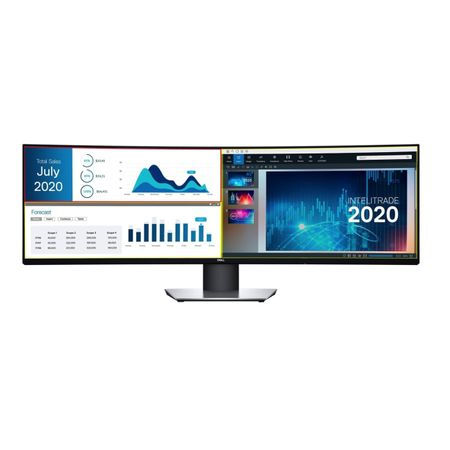 "Monitor curbat LED IPS Dell 49"", Dual QHD, Display Port, Negru"