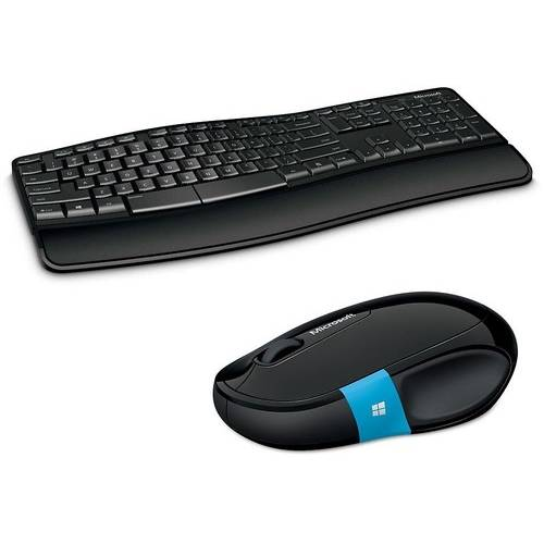 Kit Tastatura + Mouse Microsoft Sculpt Comfort Desktop, Wireless, Negru