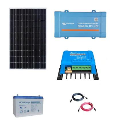 1. Kit Fotovoltaic Off-Grid 300W cu invertor de 375VA