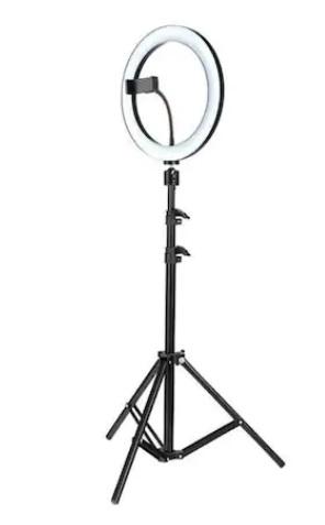 2.Lampa circulara Ring Light, 58 x LED SMD, 3 trepte lumina