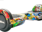Scooter electric Freewheel Junior Lite graffiti galben , roti 6.5 inch, autonomie 12 km, viteza 12 km/h ,motor 2 x 200W