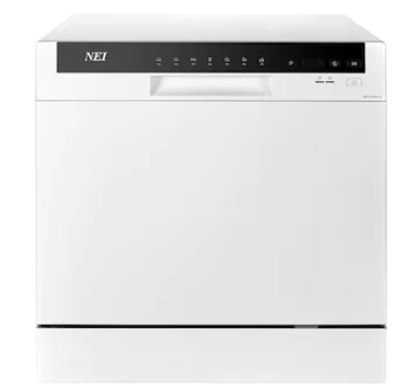 NEI NDW8S-3802FW, A+, 8 seturi, 7 programe, 55 cm, alba