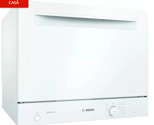 Bosch SKS51E32EU, 6 Seturi, 5 Programe, 55 cm, Clasa A+, Alb